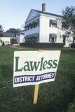 Беззаконно - знак окружнойа прокурор стоковая фотография