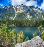 безмолвие места природы ландшафта озера рыболова красотки Стоковое Изображение RF