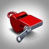 Безмолвие Whistleblower иллюстрация вектора