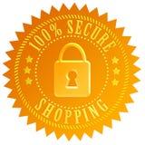 Безопасная икона покупкы Стоковая Фотография