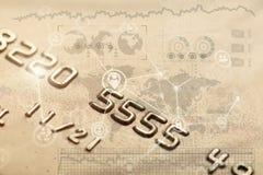 Безопасная карточка банка покупок интернета Стоковое Фото