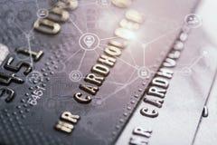 Безопасная карточка банка покупок интернета Стоковые Изображения