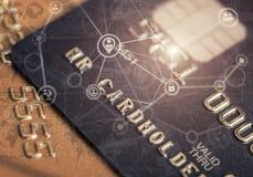 Безопасная карточка банка покупок интернета Стоковое Изображение RF