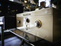 Безопасная кодовая система замка на банке коробки безопасности Стоковая Фотография