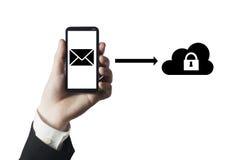 Безопасное облако почты Стоковое Фото