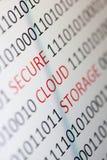 Безопасное хранение облака стоковая фотография rf