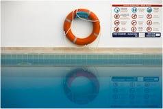 Безопасность бассейна Стоковые Фото