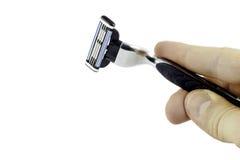 безопасность бритвы руки лезвия Стоковая Фотография RF