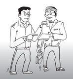 безопасность вопроса конструкции иллюстрация вектора