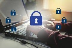 Безопасность данных и шифрование Стоковое Изображение RF
