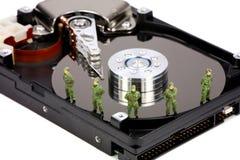 безопасность данных принципиальной схемы компьютера Стоковая Фотография RF