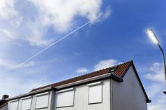 Безопасность закрывает на доме в Нидерландах Стоковые Изображения RF