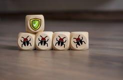 Безопасность интернета и анти- предохранение от вируса стоковое изображение rf