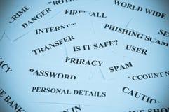 безопасность интернета принципиальной схемы Стоковое Изображение