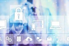 Безопасность интернета Стоковое фото RF
