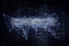 Безопасность и конфиденциальность данных кибер Стоковые Изображения RF