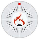 Безопасность и пожарные сигнализации датчика Стоковая Фотография