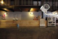 Безопасность камеры CCTV в встречном баре на гостинице Стоковые Фото