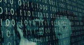 Безопасность кибер банка, предпосылка кибернетического преступления Стоковая Фотография RF