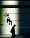 Безопасность кибер безопасности контроля наблюдения старшего брата Стоковое Изображение RF
