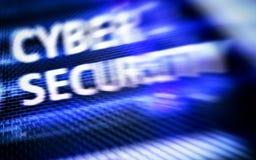 Безопасность кибер, защита данных, уединение информации Интернет и концепция технологии стоковая фотография