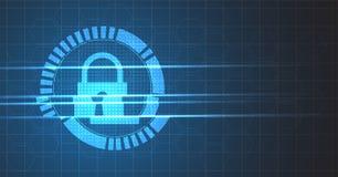 Безопасность кибер и предохранение от информации или сети Будущее техническое Стоковая Фотография RF