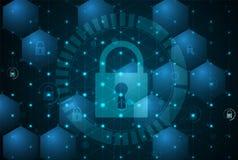 Безопасность кибер и предохранение от информации или сети Будущее техническое Стоковое Фото
