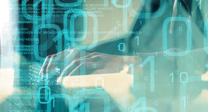 Безопасность кибер компьютера, будущее технологии Стоковое Фото
