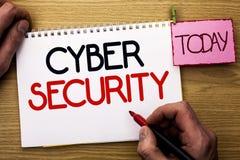 Безопасность кибер текста сочинительства слова Концепция дела для онлайн pr Стоковое Изображение