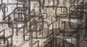 Безопасность кибер цифровой информации Стоковые Фото