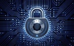 Безопасность кибер Стоковая Фотография