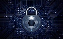 Безопасность кибер Стоковое Изображение RF