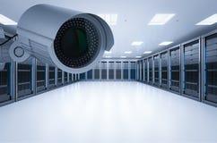Безопасность комнаты сервера Стоковая Фотография RF