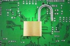 безопасность компьютера Стоковое Изображение