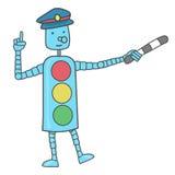 Безопасность на дороге Ясный знак для детей Стоковые Изображения