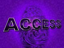 Безопасность доступа показывает запрещенная доступную и вход бесплатная иллюстрация