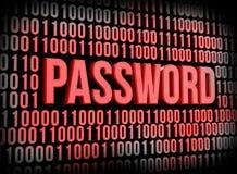 Безопасность пароля Стоковая Фотография RF