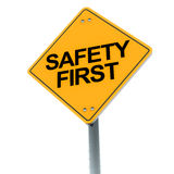 Безопасность первое Стоковое Фото