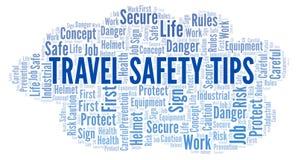 Безопасность перемещения наклоняет облако слова бесплатная иллюстрация