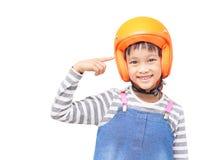 Безопасность прежде всего шлема Стоковые Фото