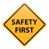 Безопасность прежде всего вектора Стоковые Фотографии RF