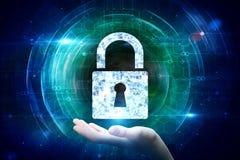 Безопасность сети и концепция шифрования иллюстрация вектора
