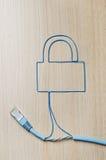 Безопасность сети стоковая фотография