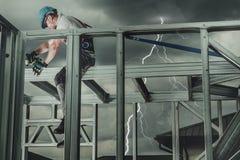 Безопасность строительной площадки стоковая фотография