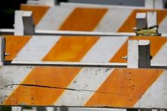 безопасность 2 барьеров деревянная Стоковые Изображения RF