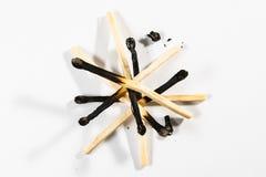 Безопасность Backg символа огня детали макроса ручки спички изолированное белизной Стоковые Фотографии RF