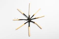 Безопасность Backg символа огня детали макроса ручки спички изолированное белизной Стоковое фото RF