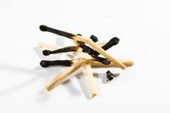 Безопасность Backg символа огня детали макроса ручки спички изолированное белизной Стоковое Фото
