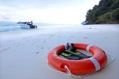 Безопасность lifebuoy и управляя оборудованием Стоковое фото RF