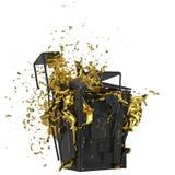 Безопасный взрыв Включенный путь Улучшите для рекламировать модели сохраньте в днях продаж Стоковое Изображение RF